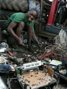 E-waste recycled in Ghana