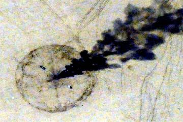 Archivbild des Einschlags einer Hellfire-Rakete im Irak nahe Bagdad 2010